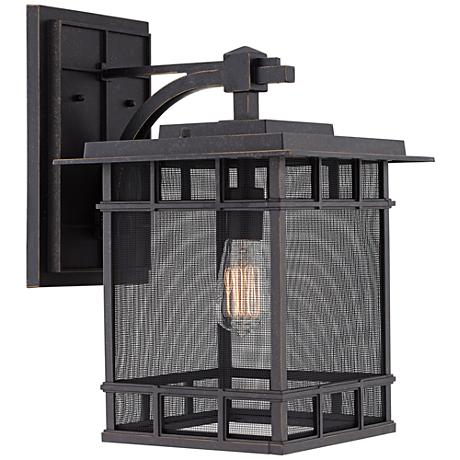 "Evanston 17"" High Bronze Mesh Outdoor Wall Light"
