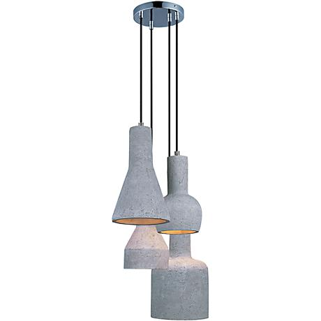 "Maxim Crete 15 3/4""W Concrete Multi-Light LED Pendant"