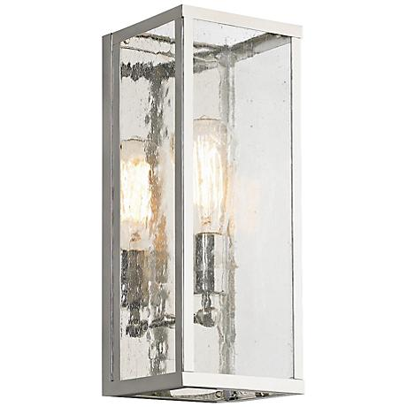 "Feiss Harrow 14"" High Polished Nickel Wall Sconce"