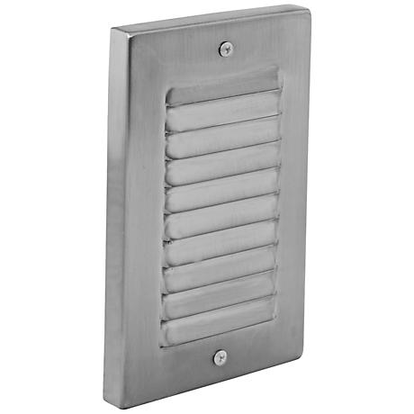 Vertical Brushed Nickel Louvered LED Step Light