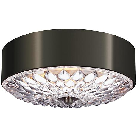 "Feiss Botanic 13 3/4"" Wide Aged Pewter Ceiling Light"