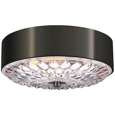 "Feiss Botanic 16"" Wide Aged Pewter Ceiling Light"