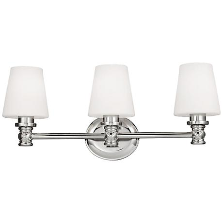 "Feiss Xavierre 23"" Wide Polished Nickel Bath Light"