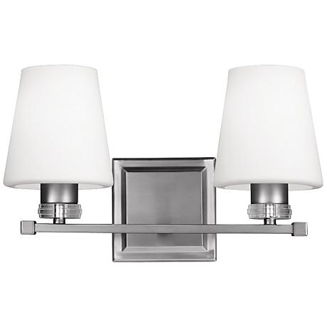 "Feiss Rouen 14 1/4"" Wide Satin Nickel Bath Light"