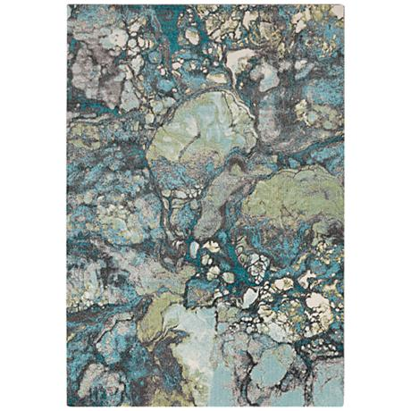 Surya Aberdine 7 6 Quot X 10 6 Quot Teal Blue And Gray Area Rug