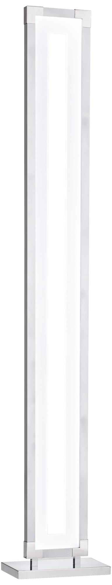 Mirra Acrylic Window Chrome LED Floor Lamp (8N521)