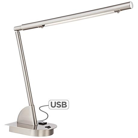 Regis LED Desk Lamp with Power Outlet and USB Port