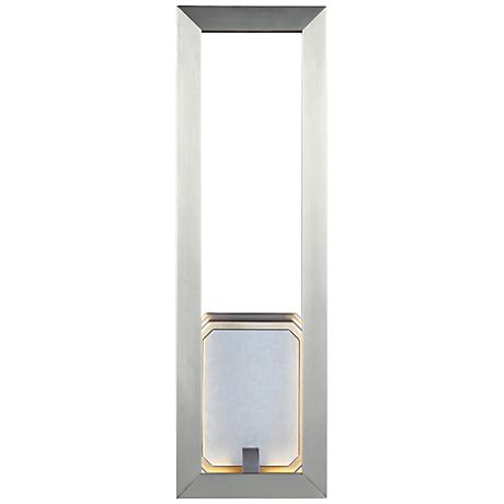 "Feiss Khloe 18"" High Satin Nickel LED Wall Sconce"