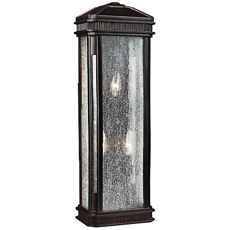 "Feiss Federal 17 1/2""H Gilded Bronze Outdoor Wall Light"