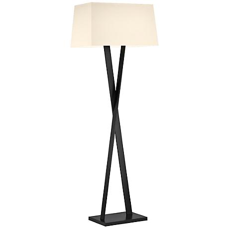 Sonneman X Satin Black Modern Floor Lamp
