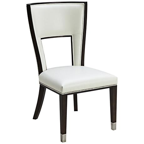 Naples Ivory Bonded Leather Upholstered Dining Chair