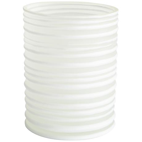 "St.Vincent 9"" High White Glass Vase"