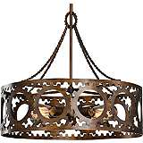 "Uttermost Antrim 21"" Wide Bronze 4-Light Pendant"