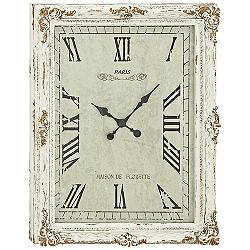 "Gertrude White Wood 36"" High Wall Clock"