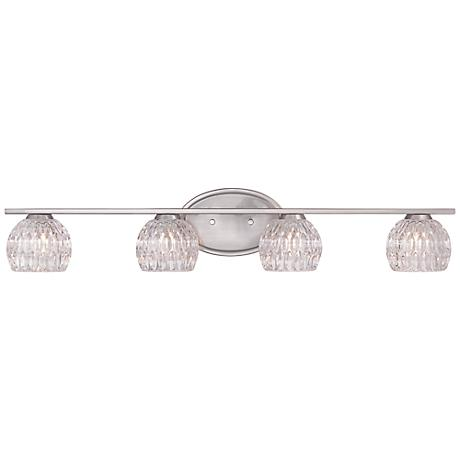 "Oddesa 30 1/4"" Wide Satin Platinum Bath Light"