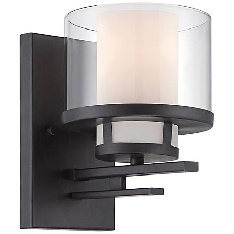 "Fusion 8 1/4"" High Biscayne Bronze Wall Sconce"