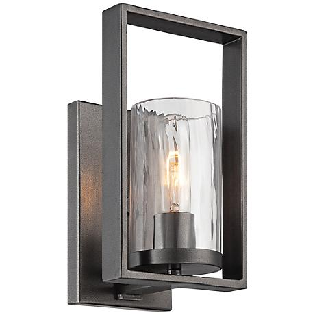 "Elements 10 3/4"" High Charcoal Wall Sconce"
