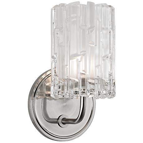 "Hudson Valley Dexter 8 1/2"" High Satin Nickel Wall Sconce"