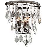 "Meritage 14 3/4"" High 2-Light Mercury Crystal Wall Sconce"
