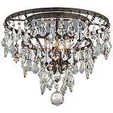 "Meritage 20"" Wide 4-Light Mercury Crystal Ceiling Light"