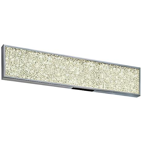 "Sonneman Dazzle 24""W Fused Glass Chrome LED Bath Light"