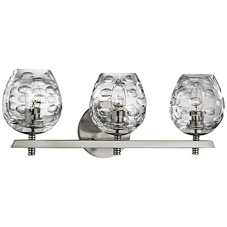 "Hudson Valley Burns 19""W 3-Light Satin Nickel Bath Light"