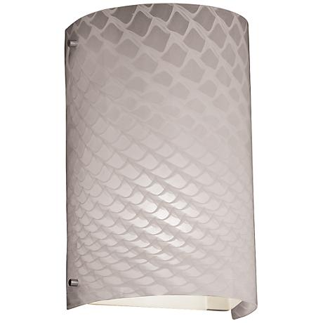 "Fusion Weaved 12 1/2""H Brushed Nickel Outdoor Wall Light"