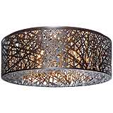"ET2 Inca 23 1/2"" Wide Bronze LED Ceiling Light"
