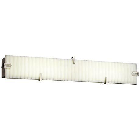 "Porcelina 36"" Wide LED Faux White Porcelain Bath Light"