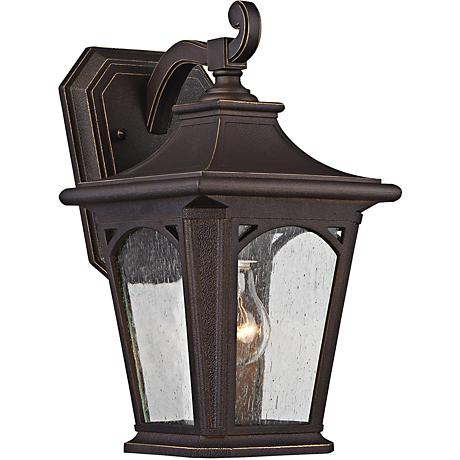 "Bedford 12 3/4"" High Palladian Bronze Outdoor Wall Light"