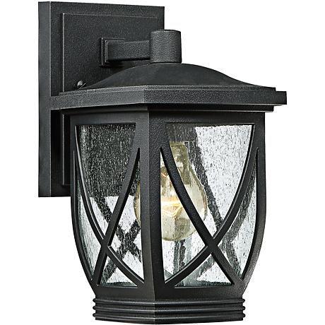 "Quoizel Tudor 10 1/2"" High Mystic Black Outdoor Wall Light"