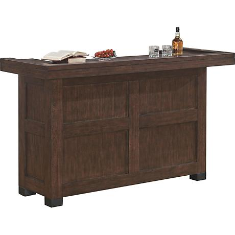 Verano Old World Sable Wood Transitional Bar Cabinet