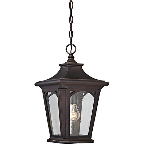 "Bedford 10"" Wide Palladian Bronze Outdoor Hanging Light"