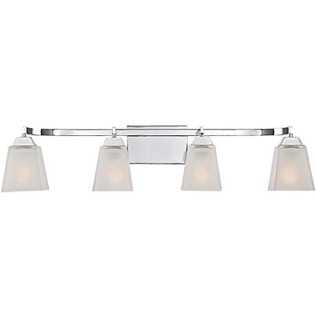 "Quoizel Loft 34"" Wide Polished Chrome Bathroom Lighting"