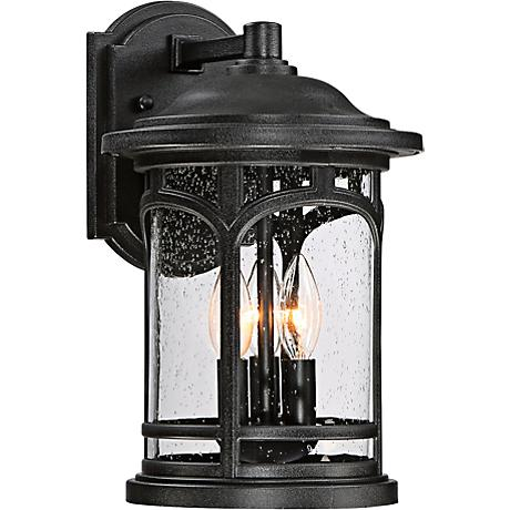 "Marblehead 14 1/2"" High Mystic Black Outdoor Wall Light"