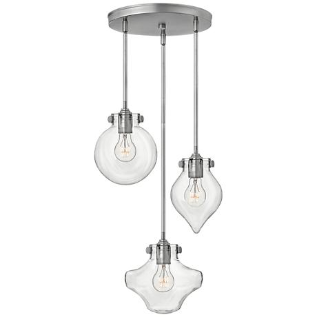 "Hinkley Congress 19 3/4"" Wide Nickel Multi-Light Pendant"