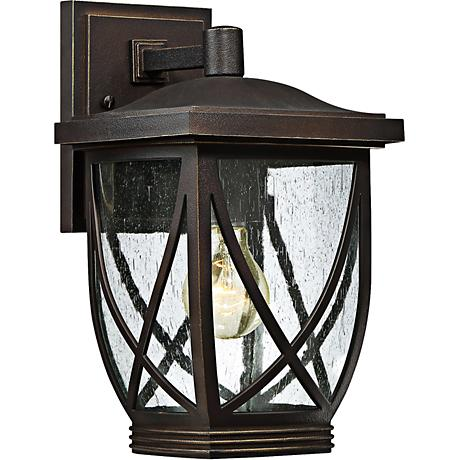 "Tudor 12 1/2"" High Palladian Bronze Outdoor Wall Light"