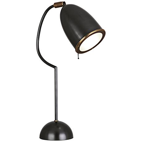 robert abbey antique brass pharmacy desk lamp 70440. Black Bedroom Furniture Sets. Home Design Ideas