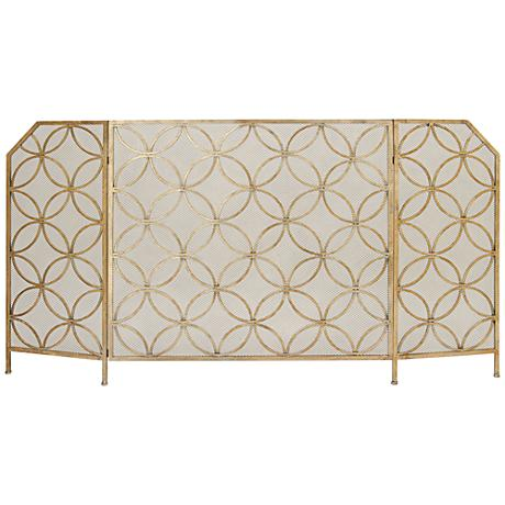 "Circulo Retro 34"" High Fireplace Screen"