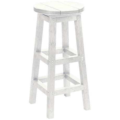 "Generations White 30"" Backless Outdoor Barstool"