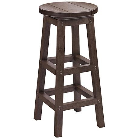 "Generations Chocolate 30"" Backless Outdoor Barstool"