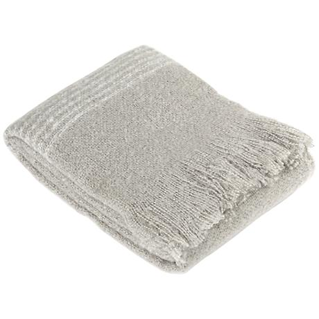 Genoa Gray Faux Mohair Throw Blanket