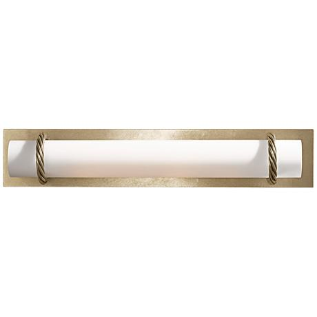 "Hubbardton Forge Cavo Gold 24""W Opal Glass Bath Light"