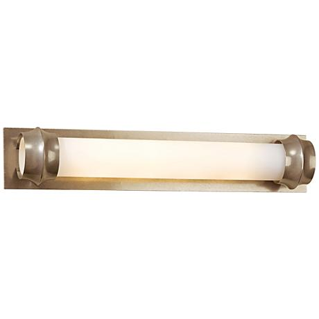 "Hubbardton Forge Rook Gold 24"" Wide Opal Glass Bath Light"