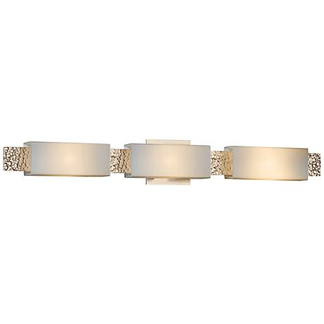 "Hubbardton Forge Oceanus Opal 33 1/2""W Gold Bath Light"