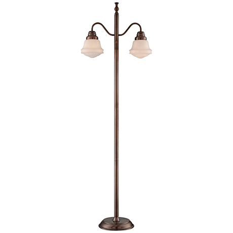 Lite Source Towne Antique Copper Lantern Floor Lamp