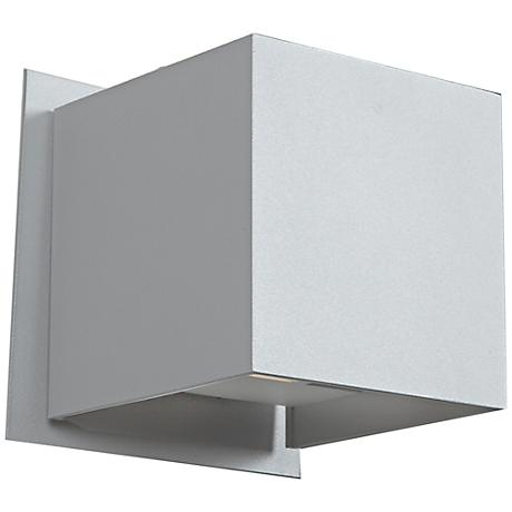 "Square 4 1/4"" High LED White Medium Outdoor Wall Light"