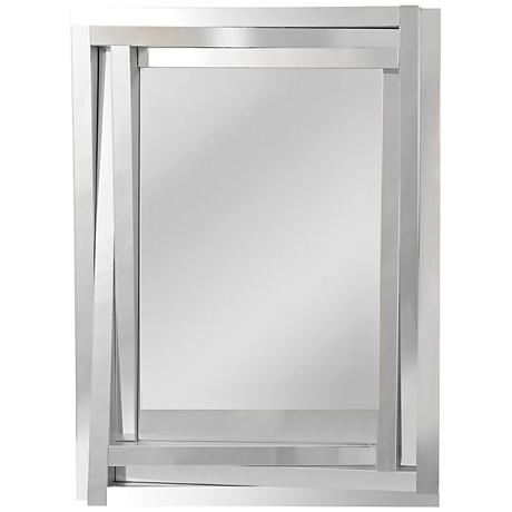 "Tiverio Angled 3-Frame 30"" x 40"" Linear Glass Wall Mirror"