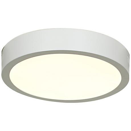 "Strike 9 1/2""W White Low-Profile Round LED Ceiling Light"