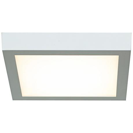 "Strike 9 1/2""W White Lo-Profile Square LED Ceiling Light"